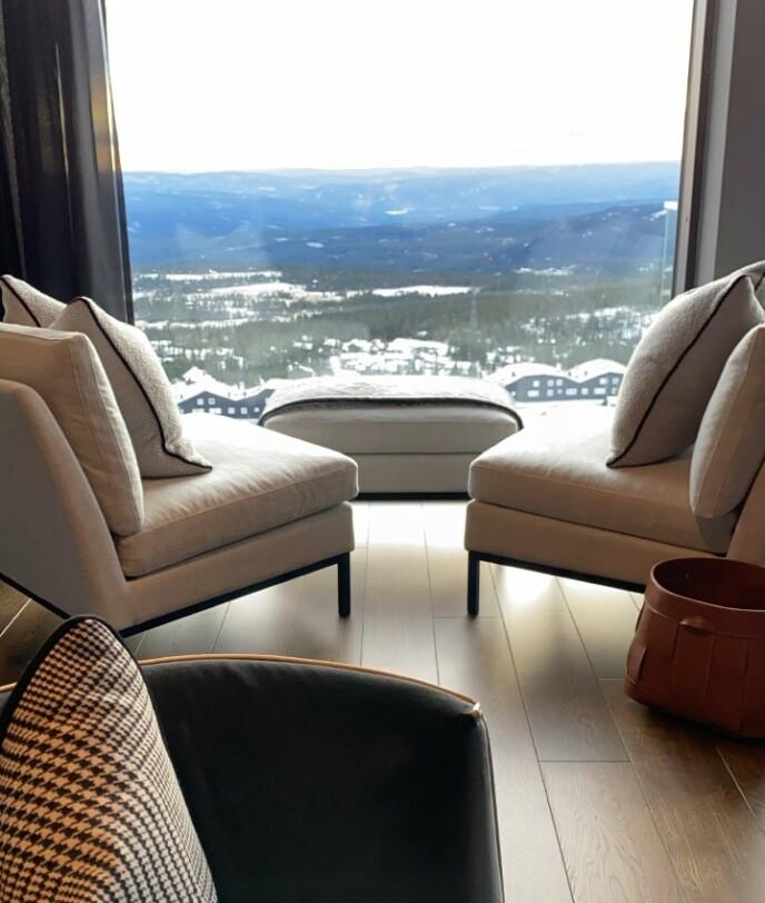 IDYLLISK: Fra stuen er det panoramautsikt. Foto: Motormouth