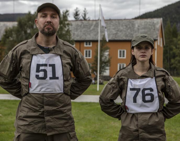 MOLDENSERE: Bernt Hulsker og Linnéa Myhre har kommet langt i «Kompani Lauritzen», og kan nok sies å være gode maskoter for hjembyen Molde. Foto: Matti Bernitz/TV 2