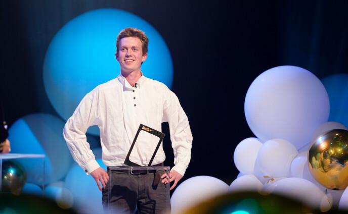 VANT: Nerdrum vant Gullruten for Årets deltaker lørdag kveld. Foto: Espen Solli / TV 2