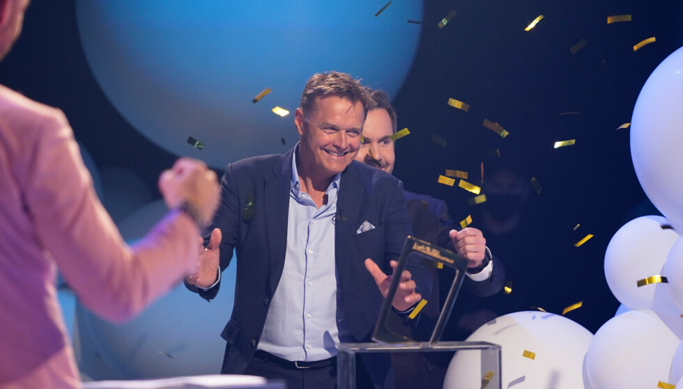 VANT: Dag Otto Lauritzen og Kristian Ødegård mottok Gullruten-pris for «Kompani Lauritzen». Foto: Espen Solli / TV 2