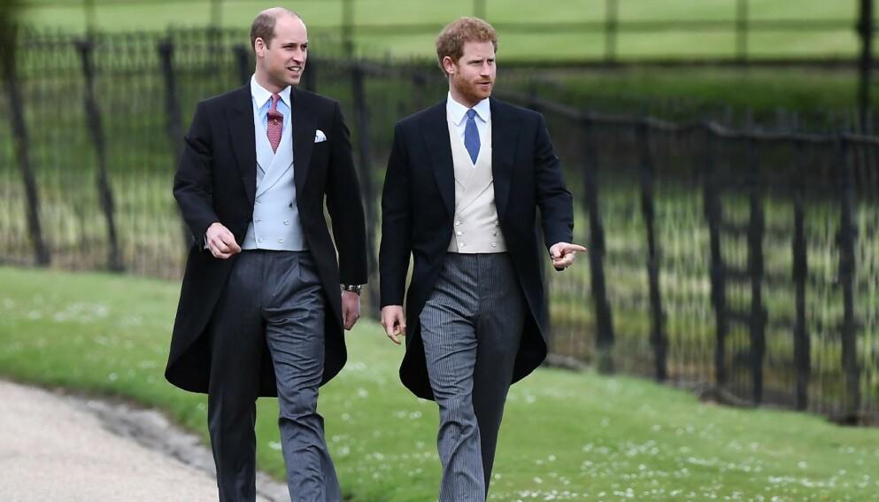 BETENT: Det er et betent brødreforhold mellom prins William og prins Harry. Foto: Justin Tallis / AFP / NTB