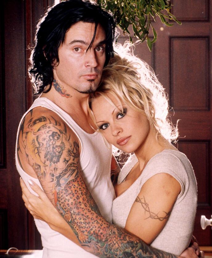 STJERNEPAR: Tommy Lee og Pamela Andersons forhold skal nå bli serie. Foto: REX / NTB