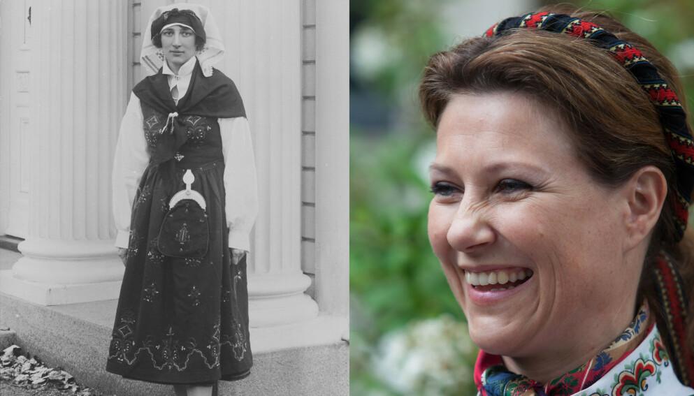 KONGELIG FAVORITT: Kronprinsesse Märtha fikk sin første bunad i 1929, en Sunnmørsbunad av typen Ørskog. Den dag i dag bærer den navnet «Marthabunaden». Prinsesse Märtha har hele fem bunader, inkludert en nyere versjon av Sunnmørsbunaden. Foto: Nasjonalbiblioteket, Nina Eirin Rangøy / NTB