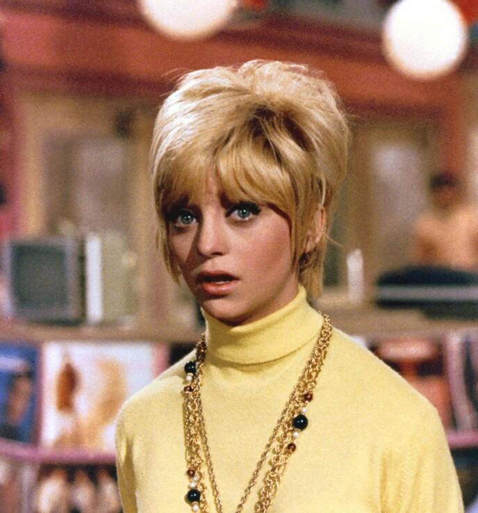 TIDLIG SUKSESS: Goldie Hawn vant en Oscar for beste birolle i komedien «Cactus Flower». Her i rollen som Toni Simmons i den nevnte komedien fra 1969. Foto: Snap Stills / REX / NTB
