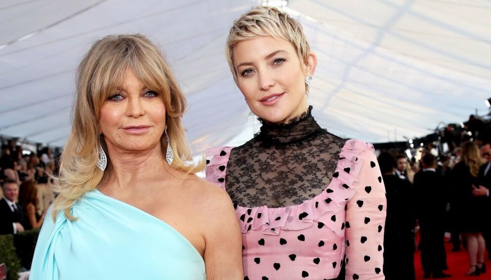 """//labrador.dagbladet.no/edit/article/id/73758579"""">EPRIMERT: Hollywood-veteran Goldie Hawn ble stjerne i ung alder, men suksessen kom med en vond bismak. Her er hun avbildet med Kate Hudson i 2018. Foto: Chelsea Lauren / REX / NTB"""