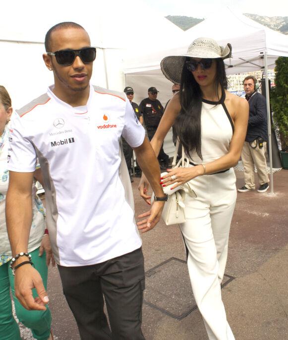 MED PÅ FESTEN: Nicole var ofte å se på Formel 1-løp for å heie på kjæresten. Som her i Monaco i 2012. Foto: Alan Davidson/REX/NTB
