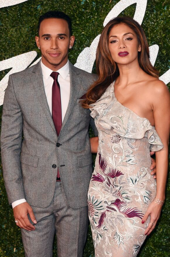PROFILERT PAR: Lewis og Nicole i forbindelse med British Fashion Awards i London i 2014. Foto: David Fisher / REX / NTB