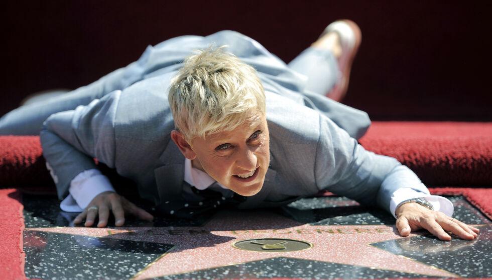 EGEN STJERNE: I 2012 fikk Ellen tildelt sin egen stjerne på Hollywood Walk of Fame. Foto: Chris Pizzello / Invision / AP / NTB