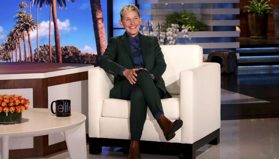 SLUTTEN: Denne uka annonserte Ellen DeGeneres at talkshowet har nådd sin slutt. Her avbildet i episoden som ble filmet dagen etter at hun kunngjorde nyheten. Foto: Michael Rozman / Warner Bros. / NTB