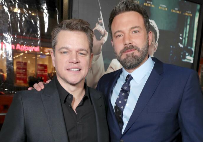 POSITIV: Matt Damon er positiv til en gjenforening mellom kompisen Ben Affleck og Jennifer Lopez. Foto: Eric Charbonneau / REX / NTB