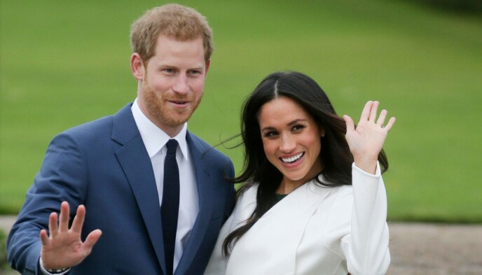 NYFORLOVET: Harry og Meghan bare kort tid etter at de hadde delt den hyggelige nyheten om at de hadde forlovet seg. Foto: Daniel Leal-Olivas/AFP/NTB