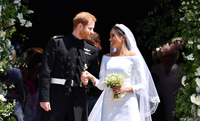 BLE KONGELIG: Hele verdens øyne var rettet mot Storbritannia da Harry og Meghan giftet seg i 2018. Foto: Ben Stansall/Pa Photos(NTB