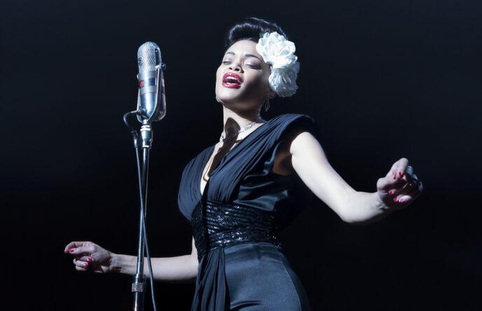 STJERNE: Andra Day spilte Billie Holiday. Rollen vant hun Golden Globe for. Foto: Takashi Seida/Paramount Pictures/AP/NTB