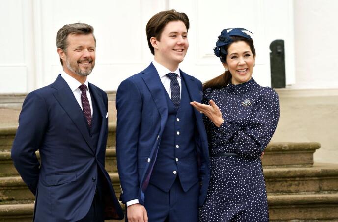 De grote dag: kroonprins Frederick en kroonprinses Mary kwamen elk overeen met de bevestiging op zijn grote dag.  Foto: Keld Navntoft / Ritzau Scanpix / Reuters / NTB