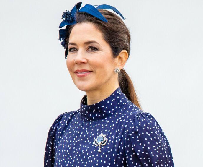 Speciale broche: de koningin gaf hem dit geschenk aan de kroonprins.  Ik kreeg het in verband met de geboorte van Prins Christian in 2005. Foto: Shutterstock / NTB