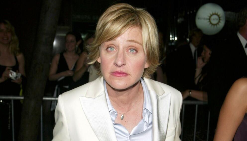 TALKSHOWDRONNING: - Vær snill mot hverandre, har Ellen DeGeneres uttalt i over tre tusen episoder av programmet sitt. Det siste året har det imidlertid vist seg å være en hyklersk setning. Foto: Matt Baron / BEI / REX / NTB