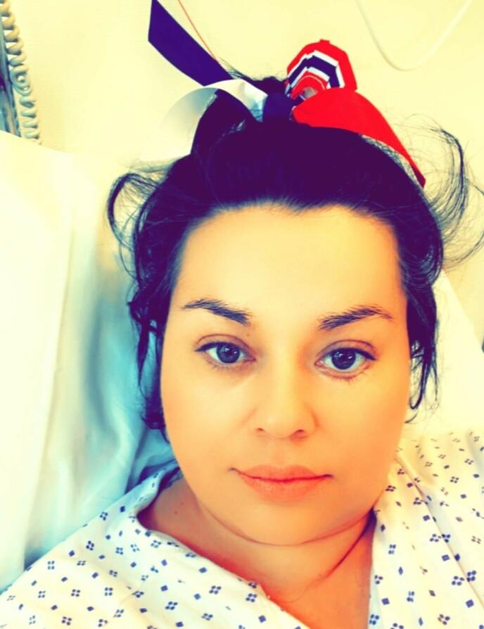 OPERERT: Tidligere «Bloggerne»-profil Suzanne Aabel har gjennomgått tre operasjoner den siste uken etter at hun var utfor en el-sparkesykkel-ulykke. Foto: Privat