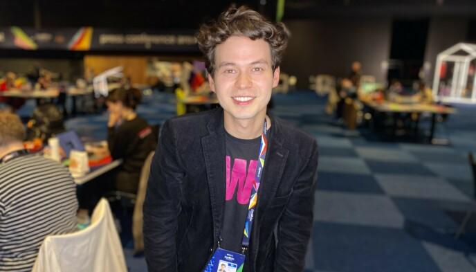 TRO PÅ TIX: Eurovision-ekspert William Lee Adams tror Tix går videre. Foto: Elias Zahl-Pettersen