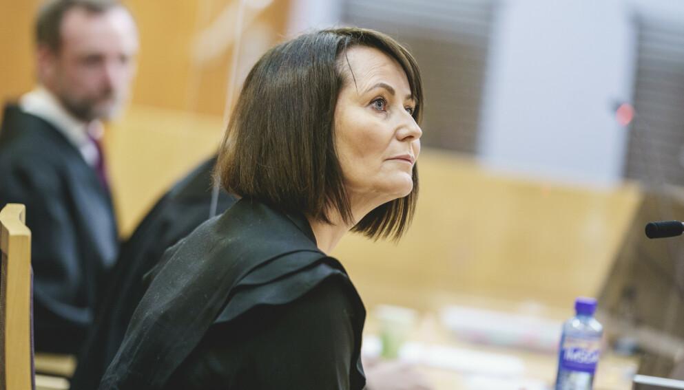 FERDIG: Line Andersen og NRK har kommet til enighet utenfor rettssalen. Foto: Stian Lysberg Solum / NTB