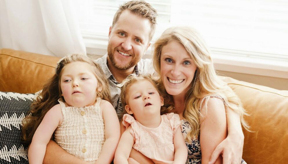 STÅR PÅ: Mariah og Mark bruker all ledig til og penger til å jakte på noe som kan gjøre livet bedre for døtrene Emma (t.v.) og Abby. Foto: Caters