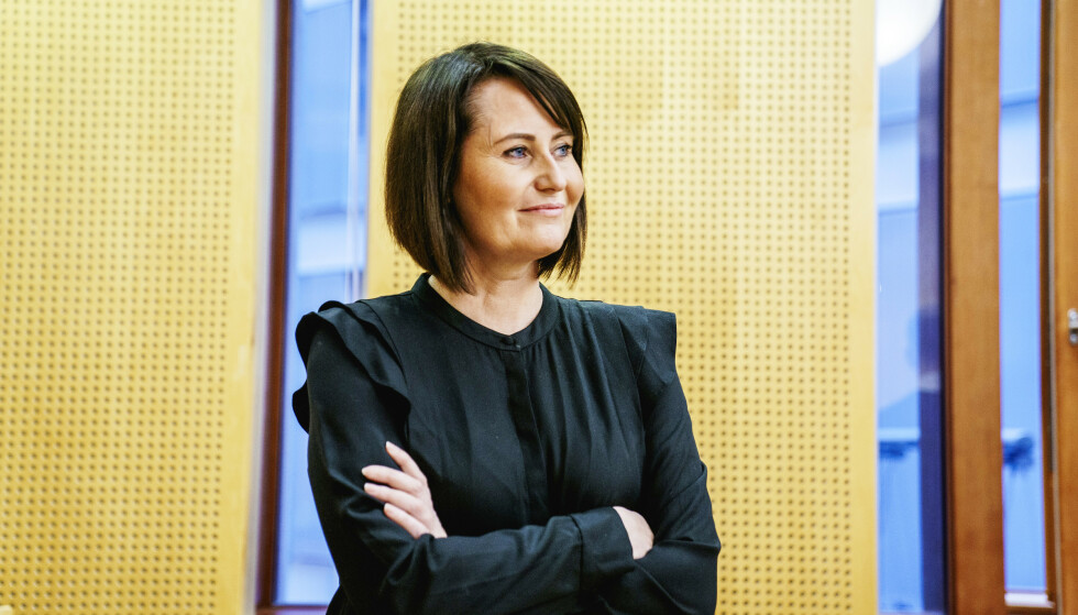 VOND TID: Tidligere programleder Line Andersen avslørte dramatiske ting fra sitt liv under rettssaken mot sin arbeidsgiver. FOTO: Stian Lysberg Solum
