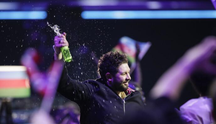 FIASKO: James Newman og Storbritannia fikk 0 poeng i lørdagens Eurovision. Foto: Peter Dejong / AP