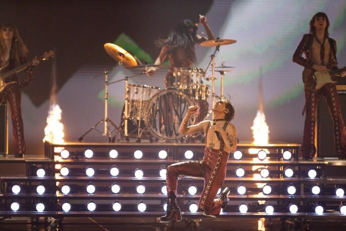 ROCKEN VANT: Italias Måneskin gikk til topps i Eurovision. Foto: Rolf Klatt/Shutterstock/NTB