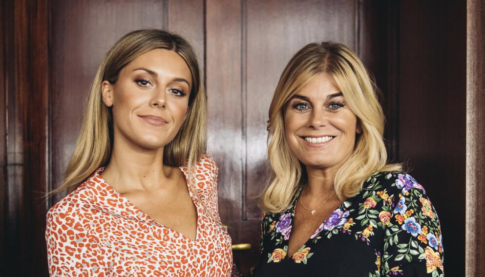 MOR OG DATTER: Bianca Ingrosso virker lykkelig over at moren, Pernilla Wahlgren, endelig har fått seg kjæreste. Foto: Erik Simander / TT/ NTBClick to add image caption