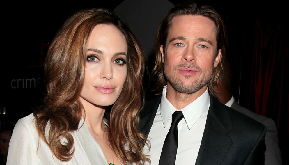KRANGLER: Angelina Jolie og Brad Pitt er uenige om hvem som skal ha barna. Her er de sammen i 2012. Foto: Dave Allocca / Starpix / Shutterstock Editorial / NTB