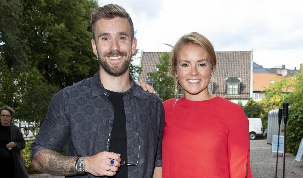 UKJENTE: Helene Olafsen og Stian Blipp kjente ikke hverandre før de ble kolleger i «Senkveld». Foto: Andreas Fadum / Se og Hør