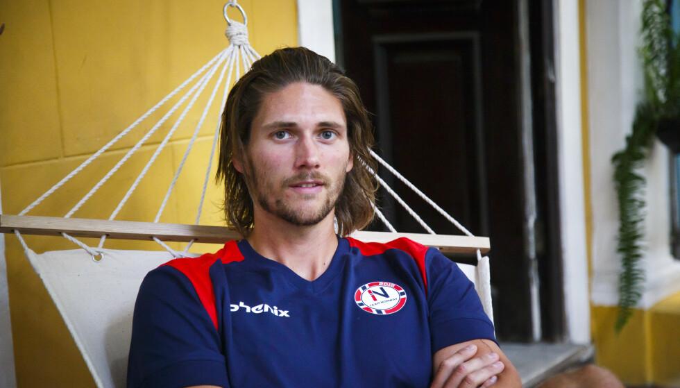 ROER: Nils Jakob Hoff vil nok dra nytte av sterke overarmer i konkurransen. Foto: Heiko Junge / NTB