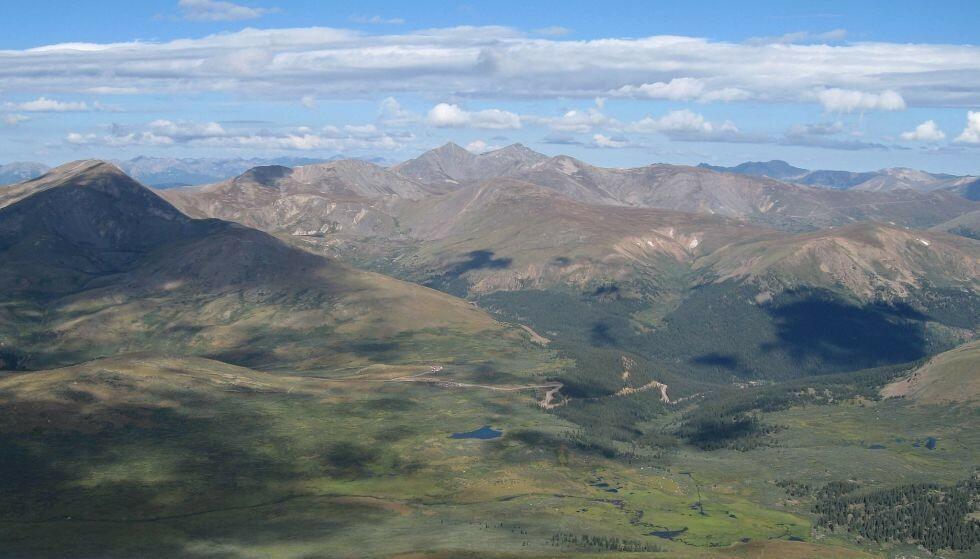 GUANELLA PASS: Det var i disse fjellene mannen ble reddet ned fra. Foto: Wikimedia Commons/Laura Scudder