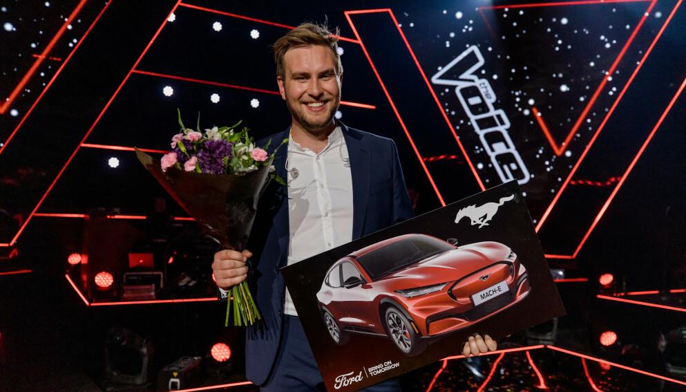 VINNER: Erlend Gunstveit vant «The Voice». Foto: TV 2 / NTB