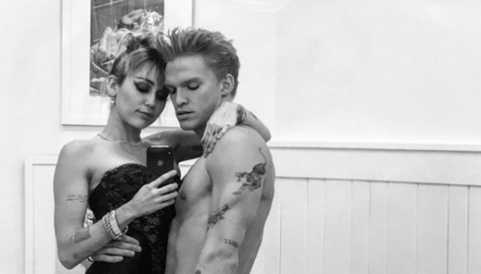 BRUDD: Miley Cyrus og Cody Simpson delte hyppig fra forholdet i sosiale medier. Foto: Instagram/Cody Simpson