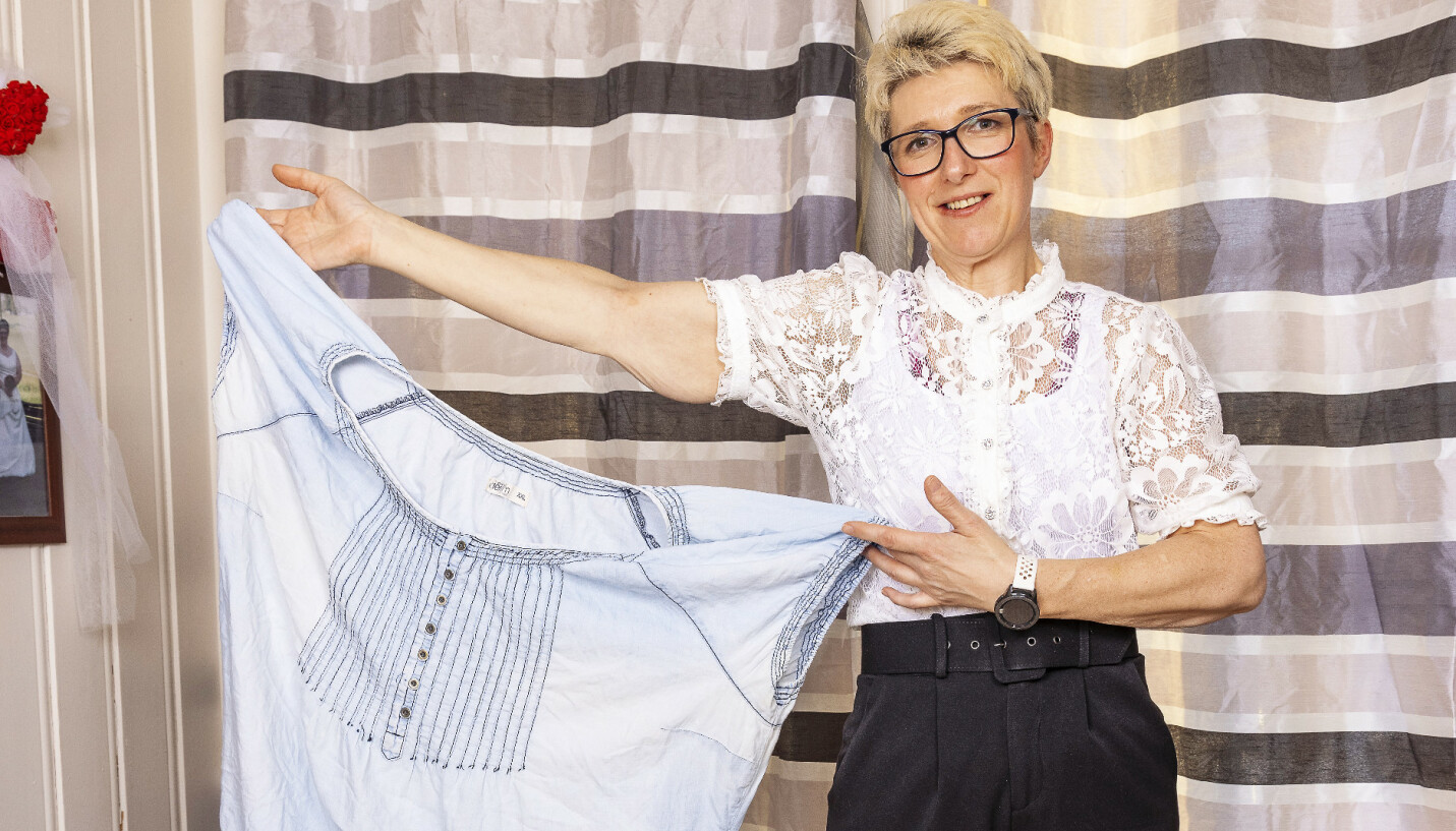 ENORM FORSKJELL: Laila gikk ned 72 kilo på to år, og kan ikke lenger bruke sine gamle klær. Hemmeligheten bak forhandlingen røper hun nå for Se og Hørs lesere. FOTO: Tor Lindseth