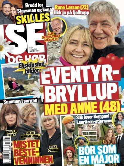 GLADNYHET: Det er i et ekslusivt intervju med Se og Hør tirsdag at Rune forteller om frieriet. Faksimile: Se og Hør
