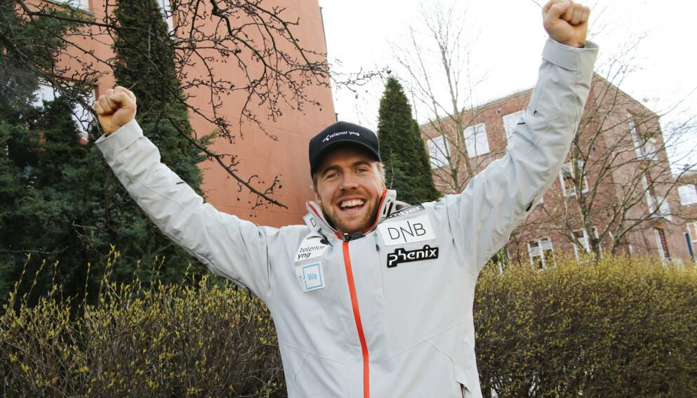 IKKE LENGER SINGEL: Aleksander Aamodt Kilde og OL-vinneren Mikaela Shiffrin har blitt kjærester. Foto: Erik Johansen / NTB