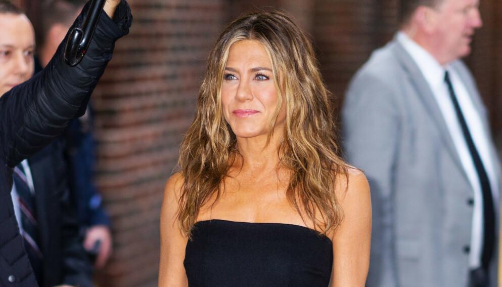 VANSKELIG: Jennifer Aniston innrømmer at det ikke bare var fryd og gammen å være tilbake på «Friends»-settet. Foto: Splash News / NTB