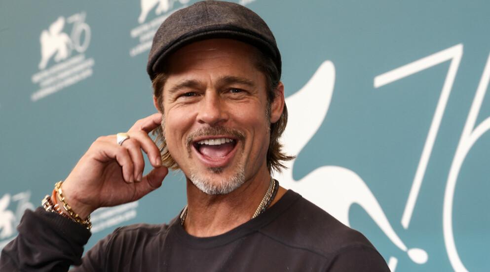 SMILER: Lykken smiler til Brad Pitt etter en lang og bitter strid med ekskona Angelina Jolie. Foto: Matteo Chinellato / NurPhoto / Shutterstock / NTB