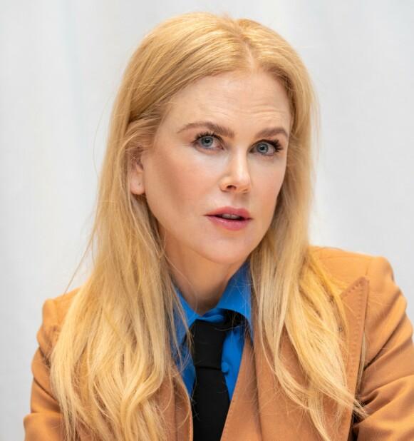 SOMMERFUGLEFFEKT: Nicole Kidman frykter lette vinger gjennom luften. Bildet tatt i forbindelse med serien «The Undoing». Foto: Magnus Sundholm / NTB