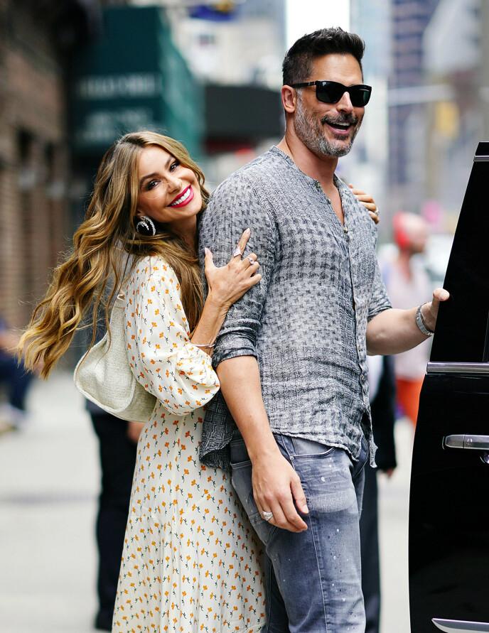 FORELSKA: Sofia Vergara og Joe Manganiello i New York i 2019. Foto: NTB