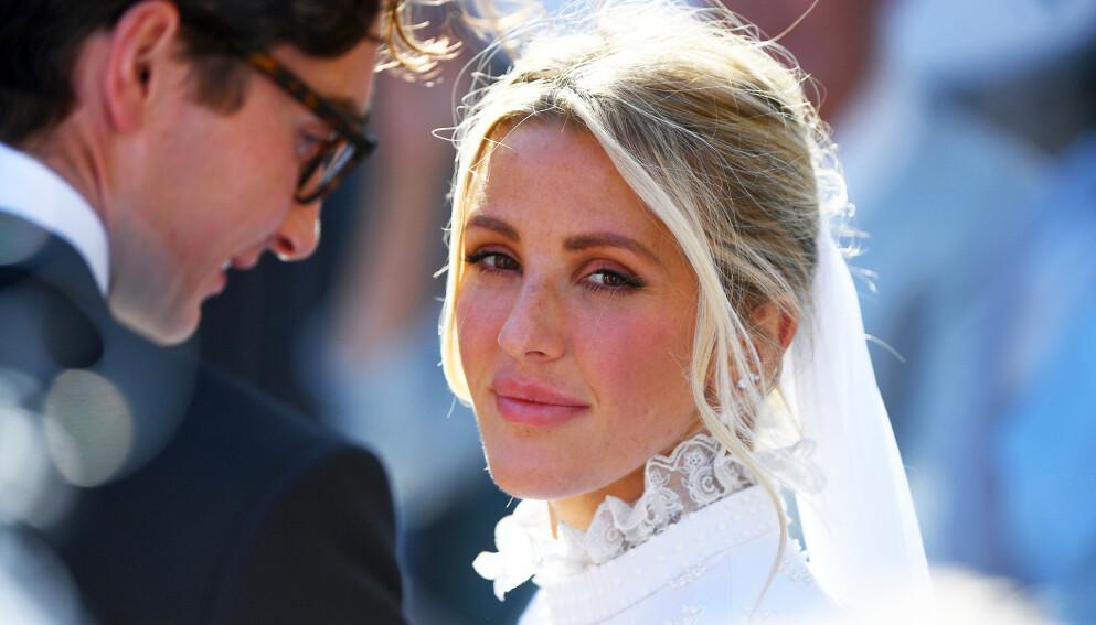STOR DAG: Ellie Goulding og Caspar Jopling giftet seg i 2019. Tidligere i år fikk de sitt første barn sammen. James Hardisty / PA Photos