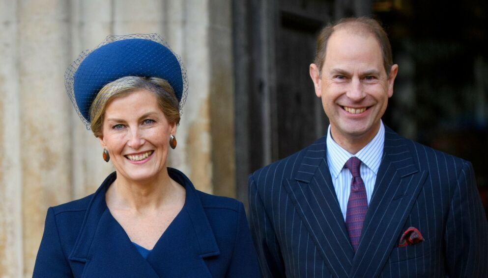 AVSLØRER: Grevinne Sophie og prins Edward blir spurt rett ut om det mye omtalte intervjuet. Foto: Tim Rooke/Shutterstock/NTB