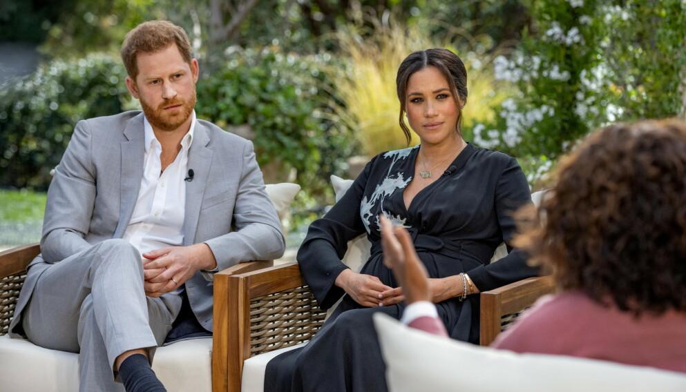 FÅR KRITIKK: Thomas Markle har lite til overs for intervjuet Oprah Winfrey gjorde med hertugparet Harry og Meghan. Foto: Harpo Productions / Joe Pugliese / Handout /Reuters