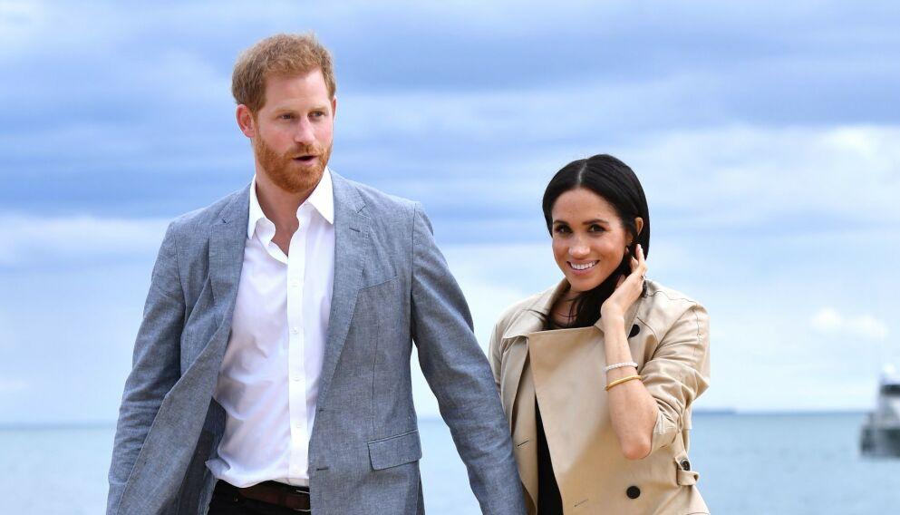 FIKK EN JENTE: Prins Harry og hertuginne Meghan ble foreldre igjen før helga. Foto: NTB
