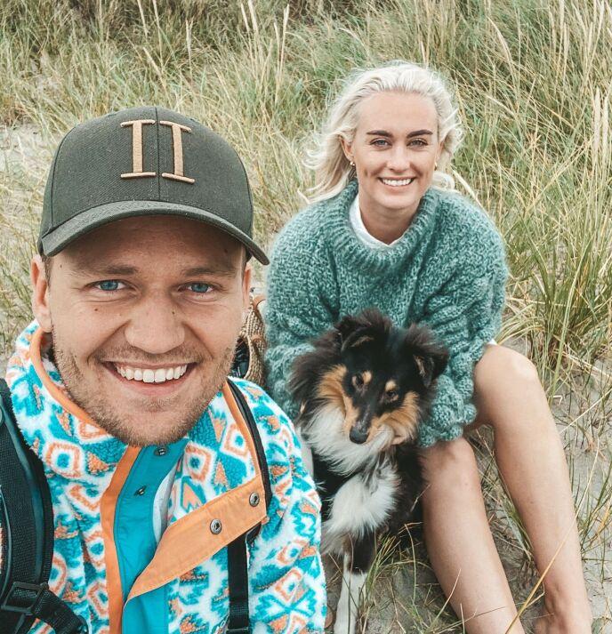 EN LITEN FAMILIE: Morten og Andrea har hatt Trulte i halvannet år og ble naturligvis bekymret da hun ble syk. Foto: Privat