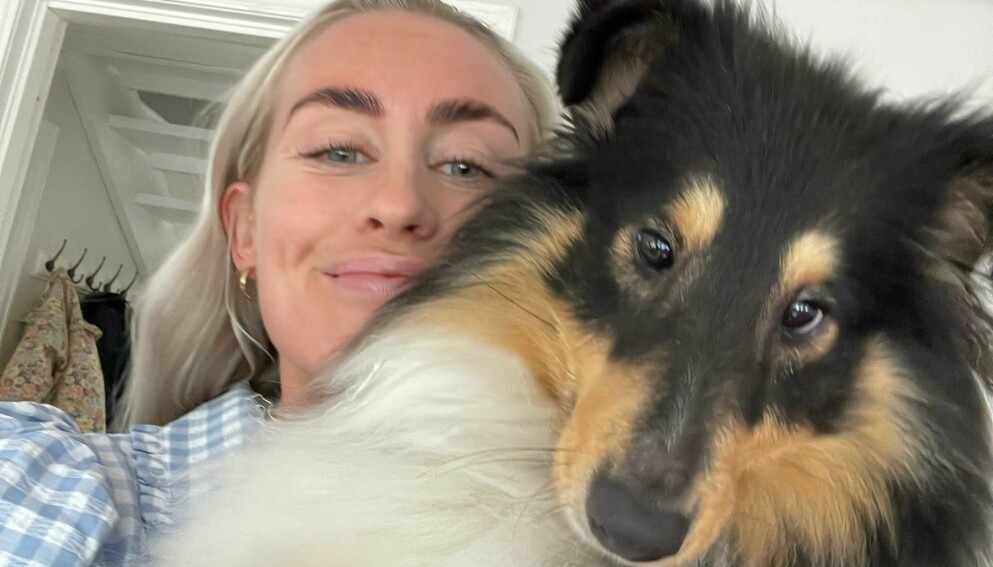 ÆRLIG: Da hunden Trulte ble dårligere og dårligere kokte følelsene over for eier Andrea Sveinsdottir. Foto: Privat