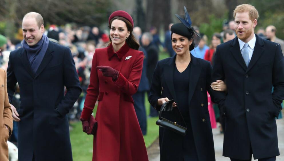 FAMILIEFORØKELSE: Prins Harry og hertuginne Meghan kunne ønske sitt andre barn velkommen til verden fredag. Prins William og hertuginne Kate sendte i den forbindelse en gave. Foto: NTB