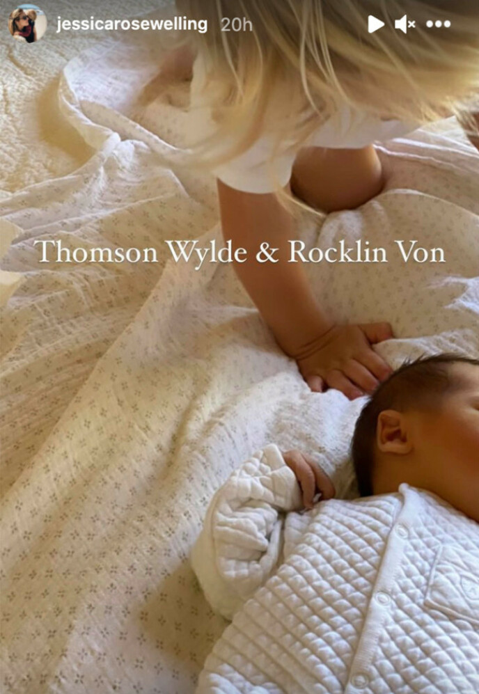 NYFØDT: «Smallville»-stjernen Tom Welling og kona Jessica Rose Lee kunne ønske sin andre sønn velkommen til verden søndag. Foto: Skjermdump fra Instagram