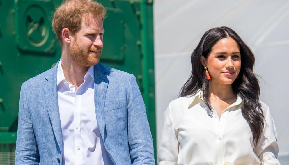 BABYBRÅK: Hertuginne Meghan og prins Harrys navnevalg har skapt en rekke reaksjoner. Foto: Shutterstock Editorial / NTB